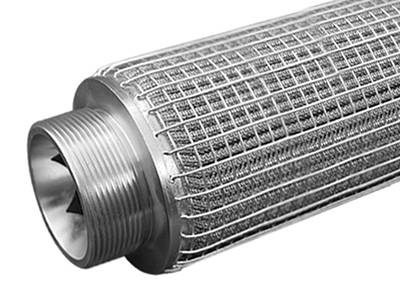 Fuel water separator filters with pleated mesh and woven protective mesh.