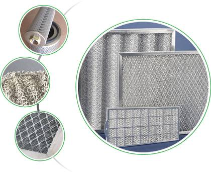 There is aluminum frame, stainless steel frame, galvanized frame panel filter, knitted mesh panel filter element and air filter cartridge.