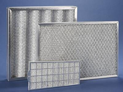 There are three galvanized frame panel filters which have two diamond expanded protective mesh filters and a square perforated perforated mesh filter.